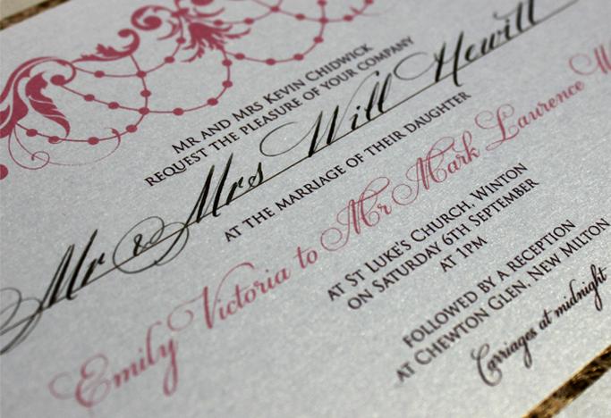 Vintage Wedding Invitations | Emily & Mark