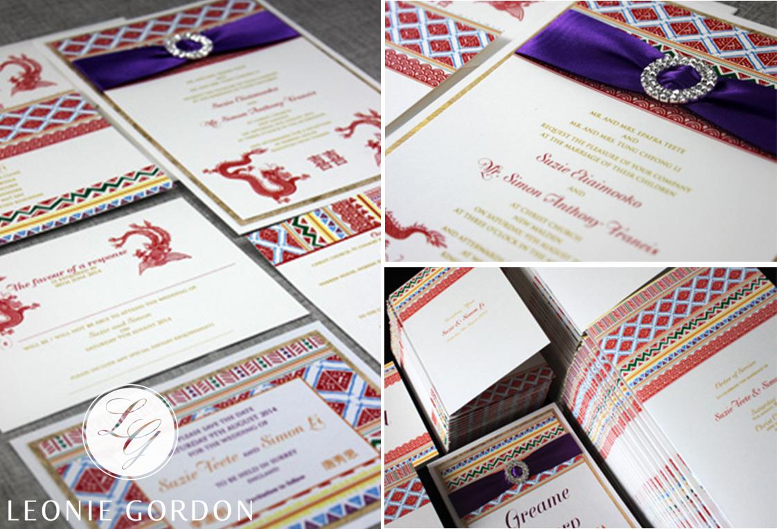Leonie Gordon London Luxury Wedding Invitation Wedding Stationery Diamante Buckle