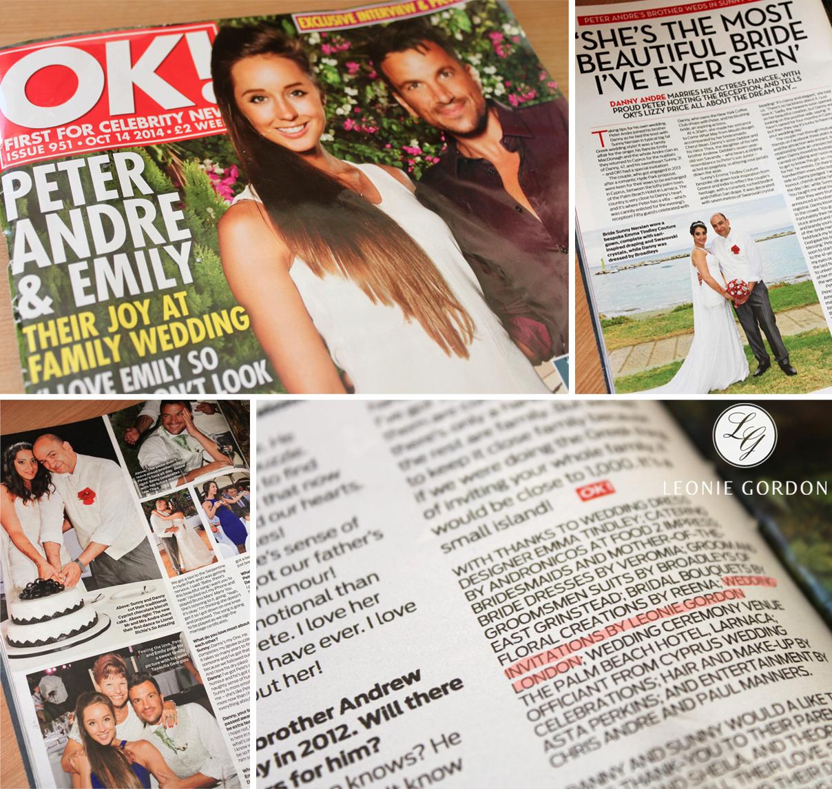 Leonie Gordon London Luxury Wedding Invitation Feature OK Magazine