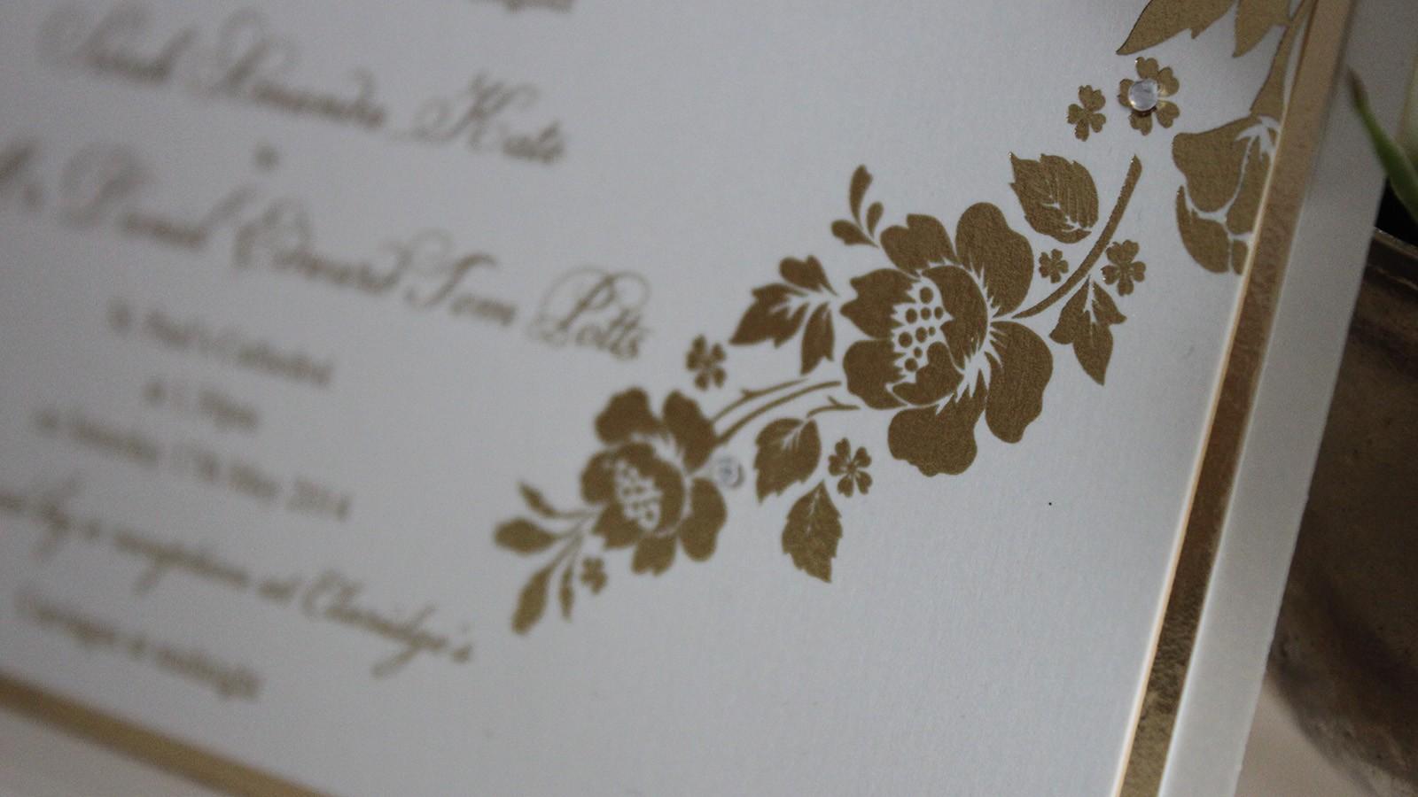 Foiled Wedding Invitations Sarah Daniel