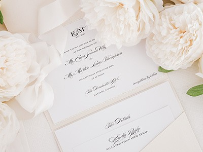 Pocketfold Wedding Invitations Close Up