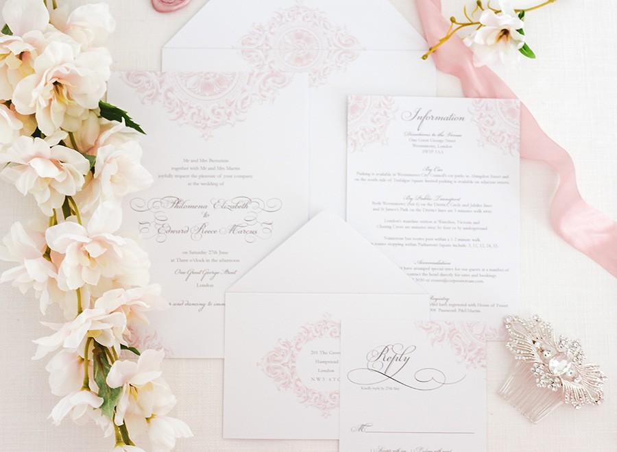 Leonie Gordon London Victoriana Wedding Invitation 1