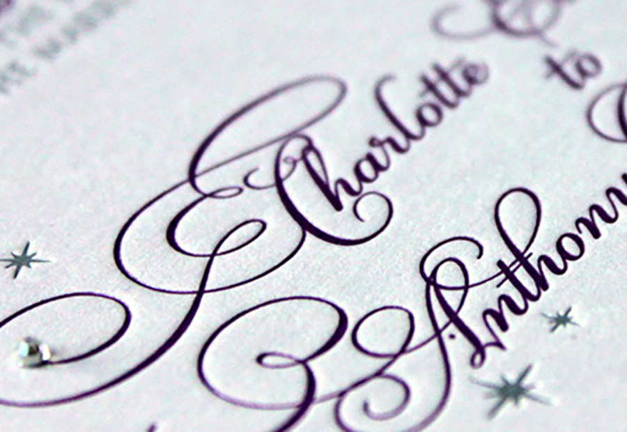 Letterpress Wedding Invitations Leonie Gordon London
