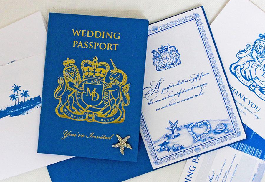 Passport Wedding Invitations Leonie Gordon London