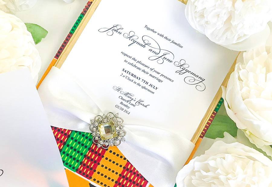 African Wedding Invitations Leonie Gordon London