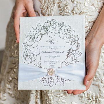 Leonie Gordon London Bespoke Ivory and Gold Wedding Stationery