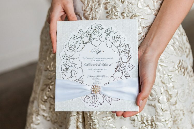 Leonie Gordon London Bespoke Ivory and Gold Wedding Stationery