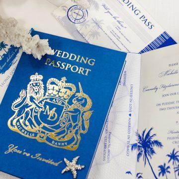 Leonie Gordon London Bespoke Passport Wedding Invitation