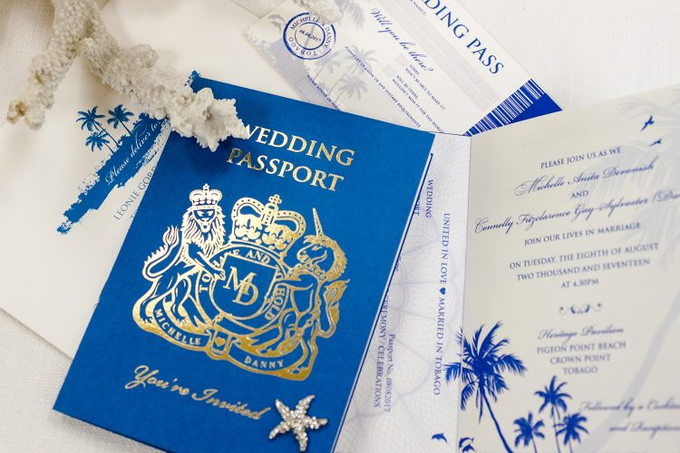 Leonie Gordon London Bespoke Passport Wedding Invitation