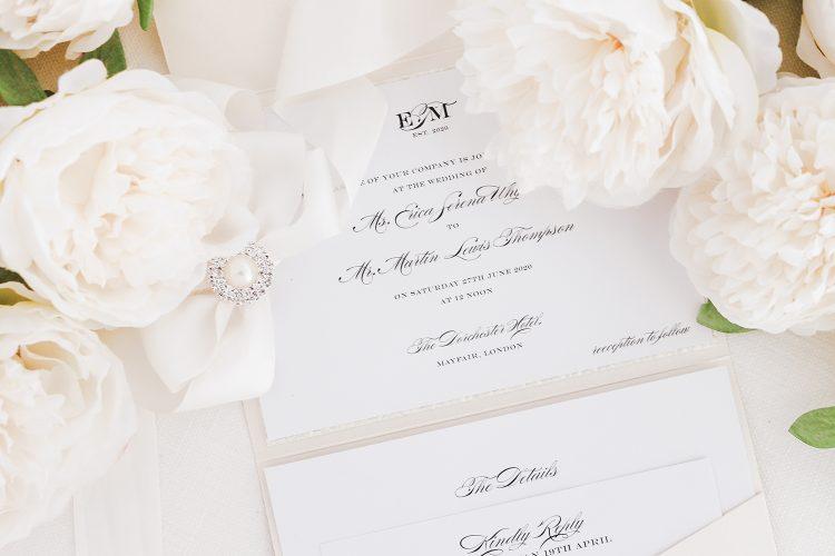 Leonie Gordon London Pocketfold Wedding Invitation
